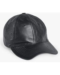 Hush Lorca Leather Baseball Cap - Black