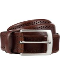 John Lewis - Made In Italy Brogue Belt - Lyst