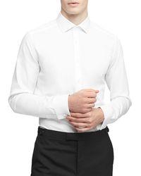 Reiss Detroller Double Cuff Slim Fit Shirt - White