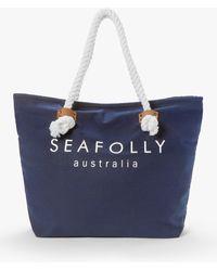 Seafolly Ship Sail Tote Bag - Blue