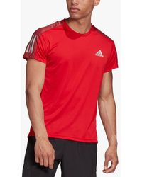 adidas Own The Run Short Sleeve Running Top - Red