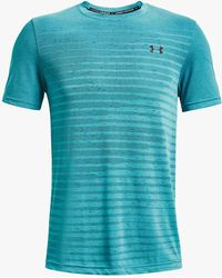 Under Armour Seamless Fade Short Sleeve Training Top - Blue