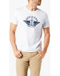 Dockers Short Sleeve Logo T-shirt - White