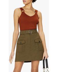 Ted Baker Sansaa Ribbed Knit Vest Top - Brown