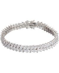 Ivory & Co. - Icon Marquise Cubic Zirconia Bracelet - Lyst