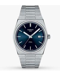 Tissot Prx Date Bracelet Strap Watch - Blue