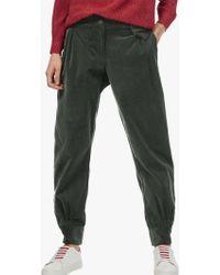 Brora Cord Bombacho Cotton Trousers - Green