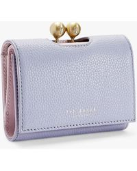 7f8ea6cedc0c Ted Baker Nouel Crosshatch Matinã©e Purse in White - Lyst