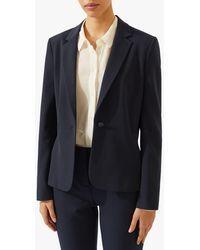 Jigsaw Seam Detail Paris Blazer Jacket - Blue