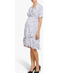 Isabella Oliver - Lullah Floral Wrap Over Maternity Dress - Lyst