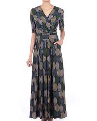Jolie Moi Cross Front Maxi Dress - Multicolour