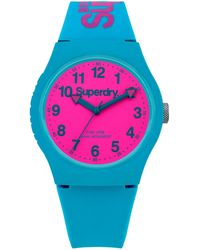 Superdry Unisex Urban Silicone Strap Watch - Pink