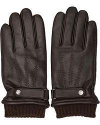 Reiss - Henley Leather Touchscreen Gloves - Lyst