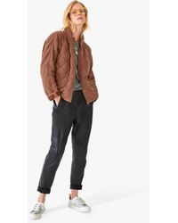 Hush Quilted Jersey Jacket - Brown