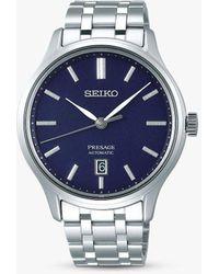 Seiko Srpd41j1 Presage Automatic Date Bracelet Strap Watch - Blue