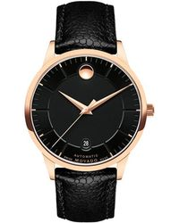 Movado - 0607062 Men's 1881 Automatic Date Leather Strap Watch - Lyst