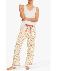 White Stuff Herbaceous Print Pyjama Bottoms - Pink