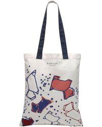 Radley - Speckle Dog Canvas Medium Tote Bag - Lyst