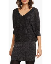 Phase Eight Becca Batwing Knit Jumper - Black