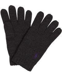 Polo Ralph Lauren Merino Wool Gloves - Black