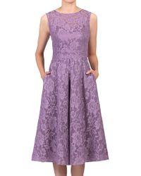 Jolie Moi - Bonded Lace Prom Dress - Lyst