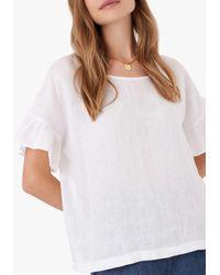 Brora Linen Shell Top - White
