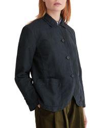 Toast Cotton Linen Jacket - Blue