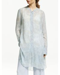 Modern Rarity - Iris Floral Tie Front Tunic Top - Lyst