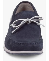 Geox Calarossa Suede Boat Shoes - Blue