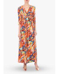 Jolie Moi Twist Front Maxi Dress - Orange