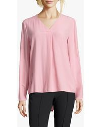 Betty Barclay Betty Barcley V-neck Blouse - Pink