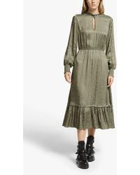 Somerset by Alice Temperley Jacquard Leopard Print Dress - Green