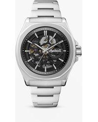 Ingersoll I09303 The Orvile Automatic Skeleton Bracelet Strap Watch - Metallic