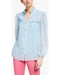 16a511b8efd67 Boden Sadie Silk Top in Blue - Lyst