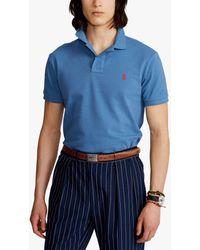 Ralph Lauren Polo Custom Slim Polo Shirt - Blue