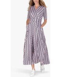 Jolie Moi Geometric Print Maxi Dress - Pink