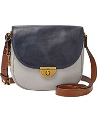 Fossil - Emi Leather Saddle Bag - Lyst