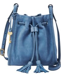 Fossil - Claire Tasselled Drawstring Small Cross-body Bag - Lyst