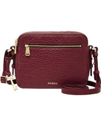 Fossil - Piper Toaster Pebble Leather Cross-body Bag - Lyst