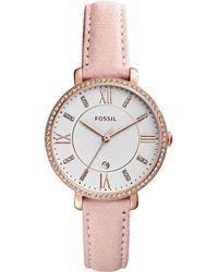 Fossil - Es4303 Jacqueline Women's Suede Strap Watch - Lyst