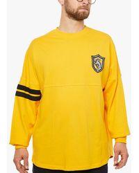 Fabric Flavours Harry Potter Hufflepuff Oversized Sweatshirt - Yellow
