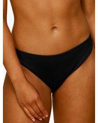 Whistles Ribbed Bikini Bottoms - Black