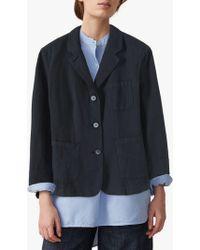 Toast Cotton Linen Patch Pocket Jacket - Blue