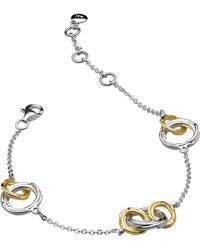 Kit Heath - 18ct Gold Plated Sterling Silver Cocoon Link Chain Bracelet - Lyst