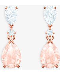 Swarovski - Vintage Crystal Teardrop Drop Earrings - Lyst