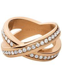 Dyrberg/Kern - Dyrberg/kern Crystal X-design Ring - Lyst