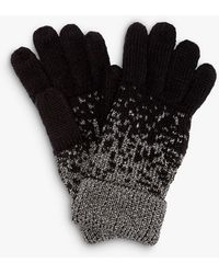 Phase Eight Leya Lurex Glove - Black