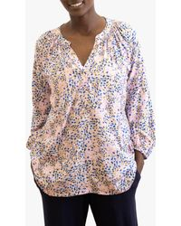 Nrby - Livvie Drapey Floral Blouse - Lyst
