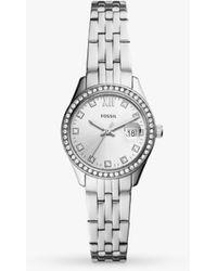 Fossil Es5039 Scarlette Micro Date Bracelet Strap Watch - Metallic