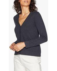 Thought Loren Organic Cotton V-neck Cardigan - Blue